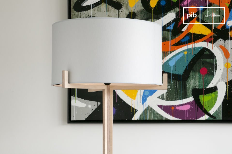 Licht hout en simpel design