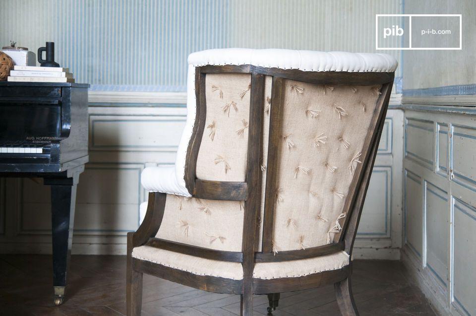 De Cambridge landelijke fauteuil voor in uw kamer neemt de klassieke vormen van de Shabby-chic