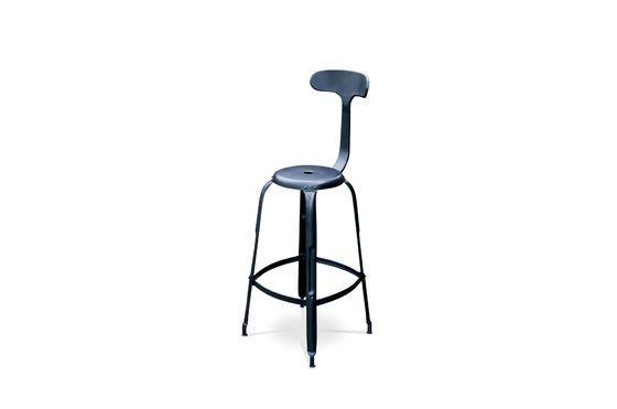 Barstoel met zwarte klinknagels Productfoto
