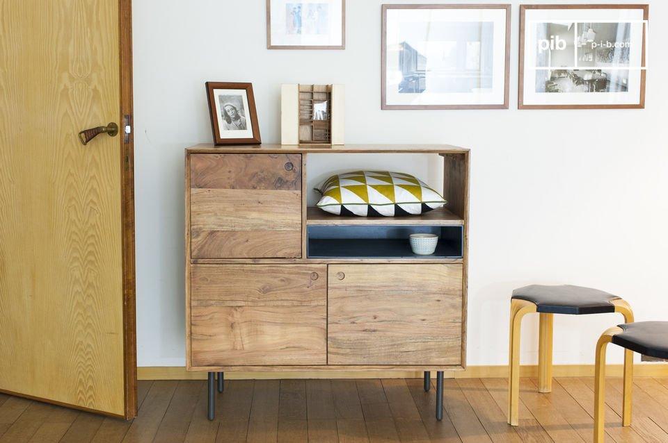 Bascole hoog houten dressoir