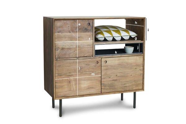Productafmetingen Bascole hoog houten dressoir