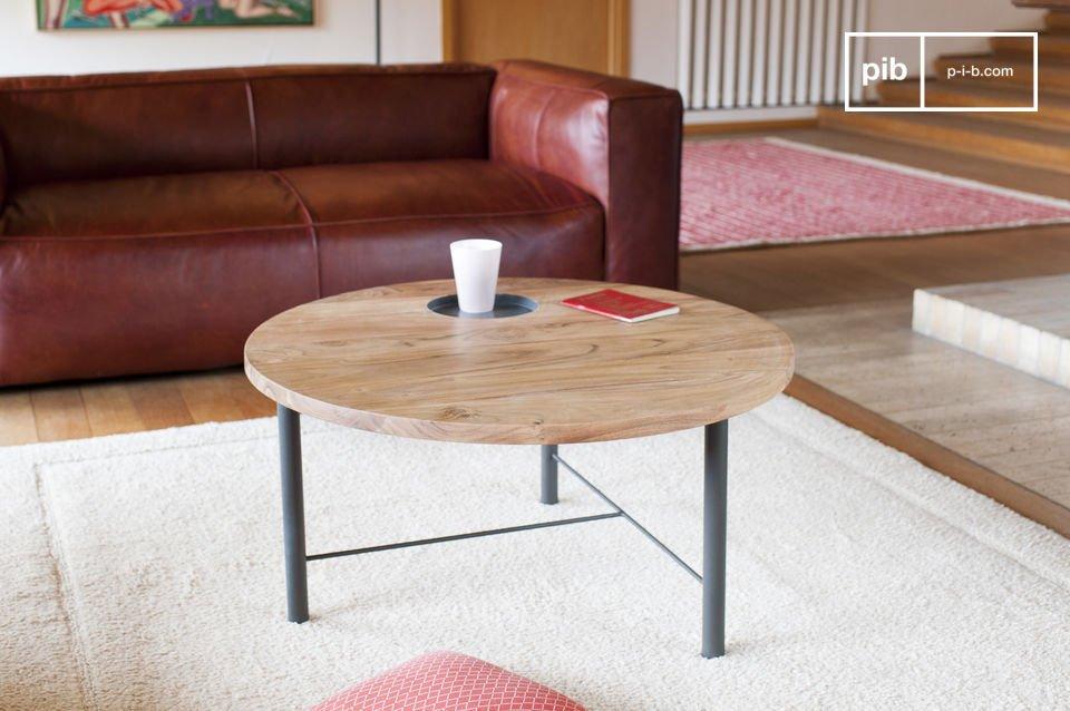 Houten Salon Tafel : Bascole houten salontafel sobere lijnen pib