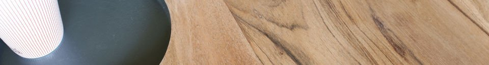 Benadrukte materialen Bascole houten salontafel
