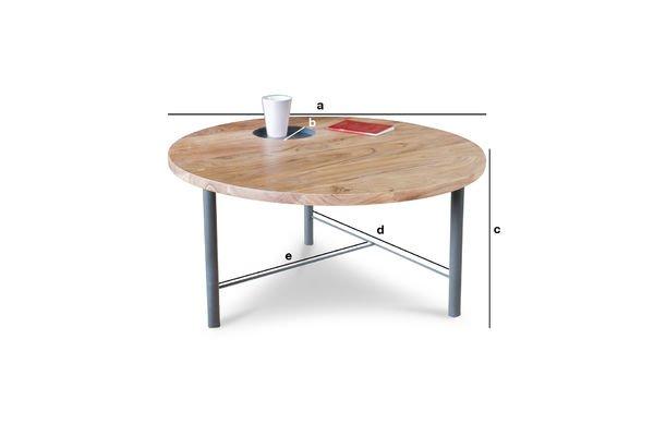 Productafmetingen Bascole houten salontafel