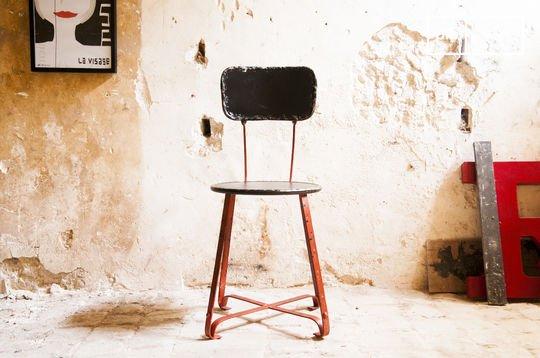 Bastel metalen stoel