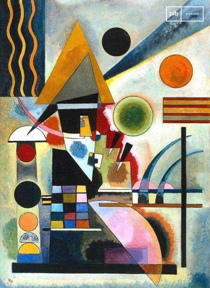Bauhaus kunst - Swinging door Wassily Kandinsky, 1925