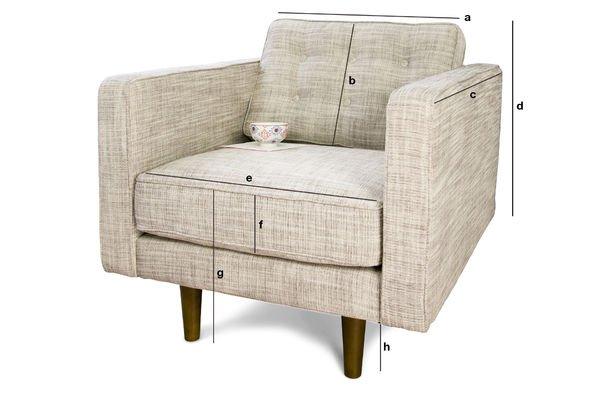 Productafmetingen Beige Svendsen fauteuil