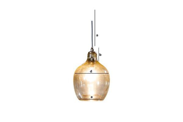Productafmetingen Belvedere hanglamp