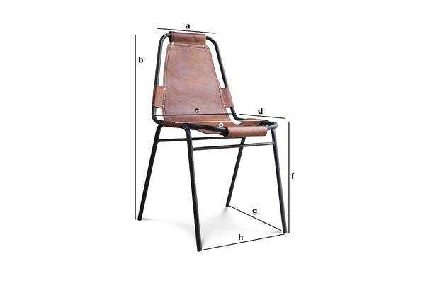 Productafmetingen Bergson stoel