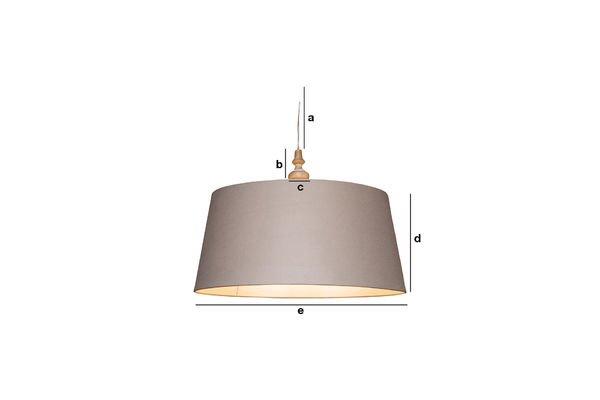 Productafmetingen Bilboquet hanglamp