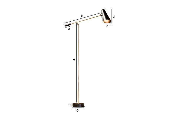 Productafmetingen Birdy vloerlamp