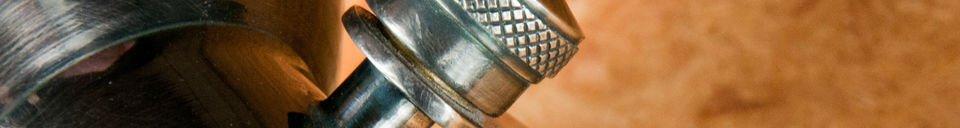 Benadrukte materialen Bistro schroef wandlamp