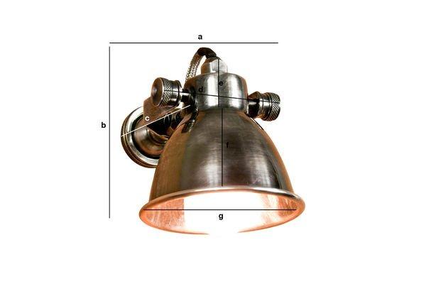 Productafmetingen Bistro schroef wandlamp