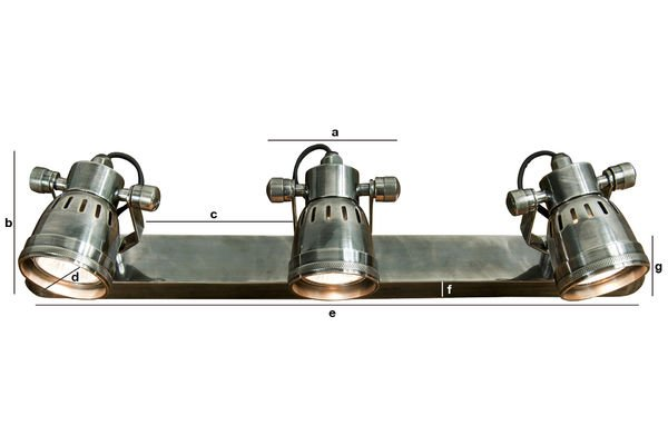 Productafmetingen Bistro triple-lamp wandlamp