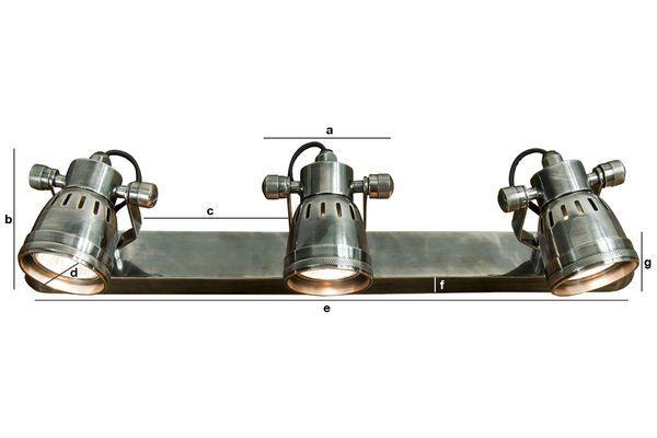 Productafmetingen Bistro triple wandlamp