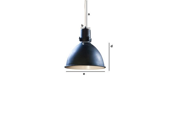 Productafmetingen Black Edition fabriek hanglamp