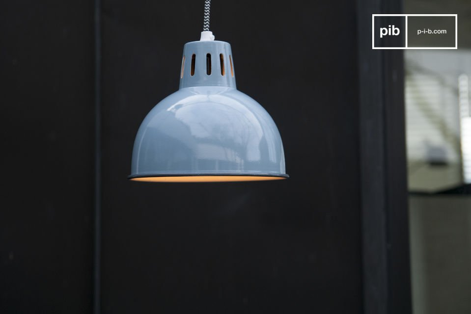 Blauwe Hanglamp Snöl