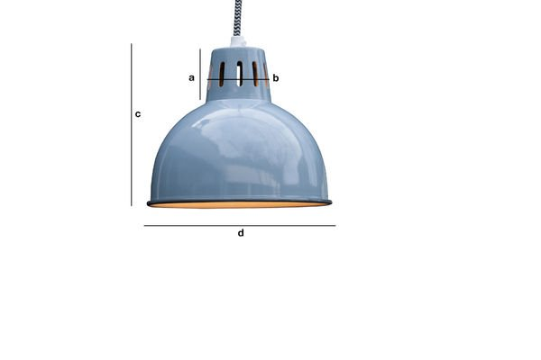 Productafmetingen Blauwe Hanglamp Snöl