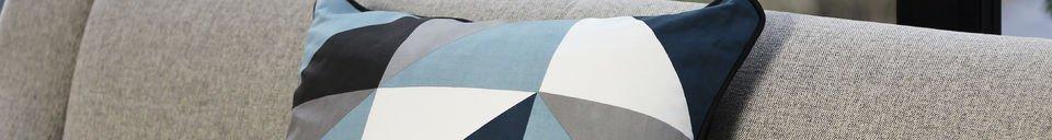Benadrukte materialen Blauwe Norway kussen