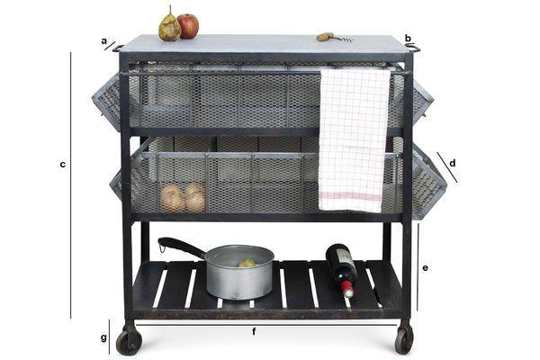 Productafmetingen Bluestone keukenkar