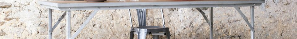 Benadrukte materialen Bollène tafel in teakhout
