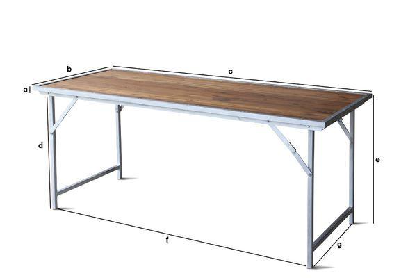 Productafmetingen Bollène tafel in teakhout
