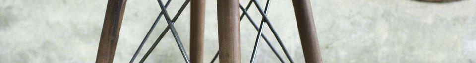 Benadrukte materialen Bow bistrotafel