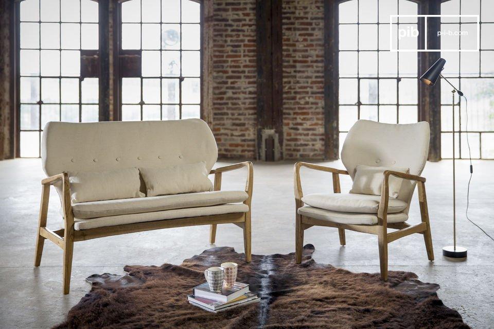 De frame van de fauteuil is gemaakt van iepenhout en dit garandeert stevigheid en duurzaamheid