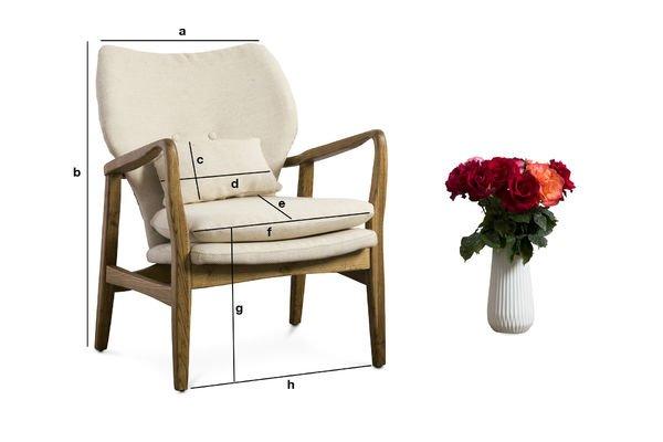 Productafmetingen Breda fauteuil