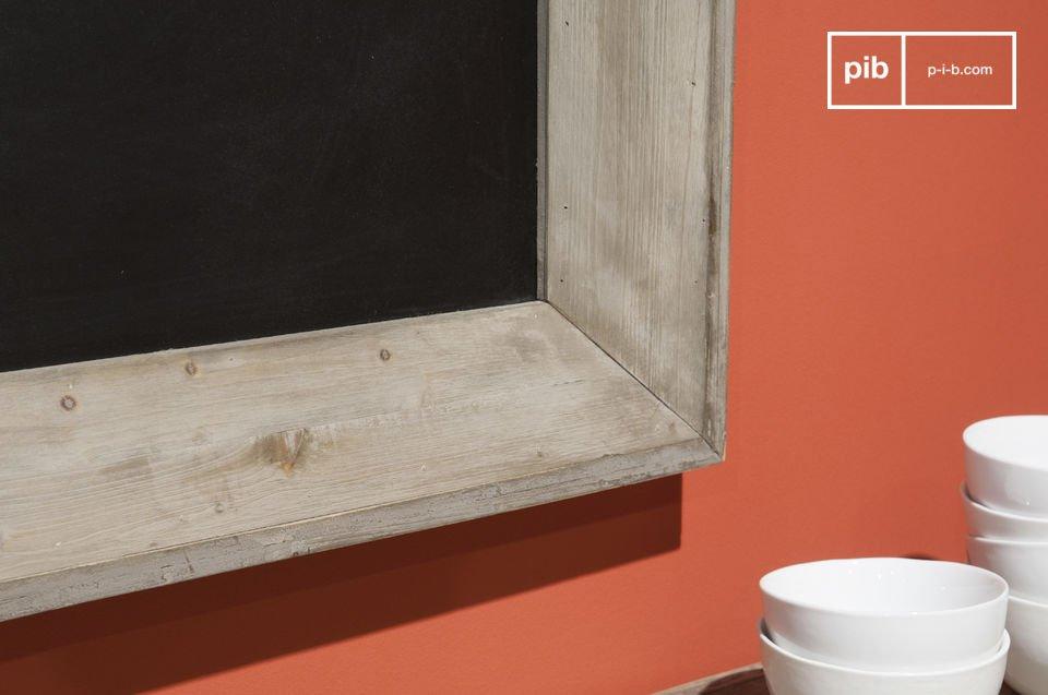 Een houten schoolbord voor je notities