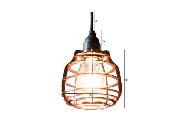 Productafmetingen Bristol koperen hanglamp
