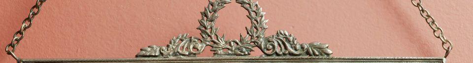 Benadrukte materialen Bronzen Flèche Spiegel
