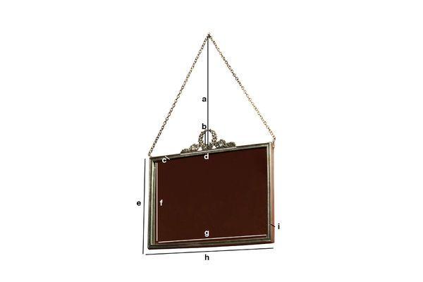 Productafmetingen Bronzen Flèche Spiegel
