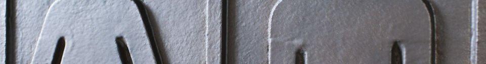 Benadrukte materialen Bronzen Wc bordje