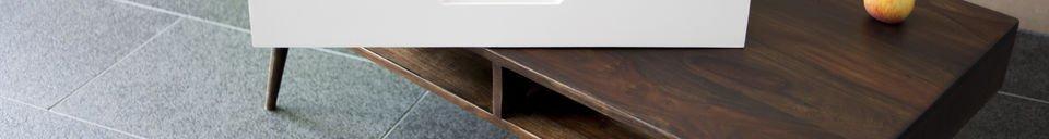 Benadrukte materialen Brown'n White salontafel