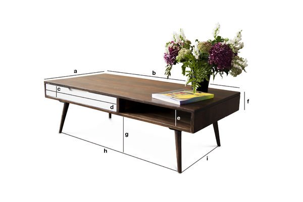 Productafmetingen Brown'n White salontafel