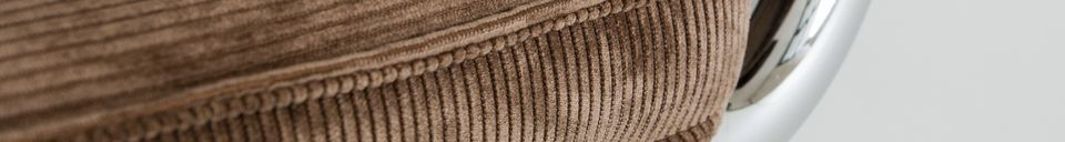 Benadrukte materialen Bruine Krömart stoel