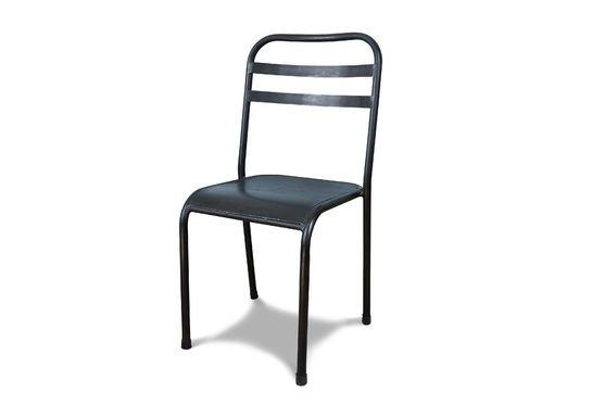 Bruine opstapelbare metalen stoel Productfoto