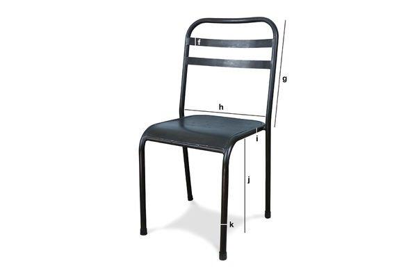 Productafmetingen Bruine opstapelbare metalen stoel