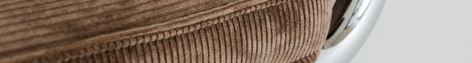 Benadrukte materialen Bruine Ridge Rib stoel