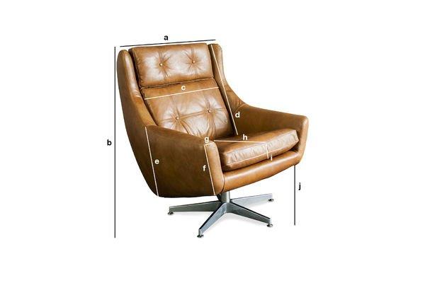 Productafmetingen Bushley fauteuil