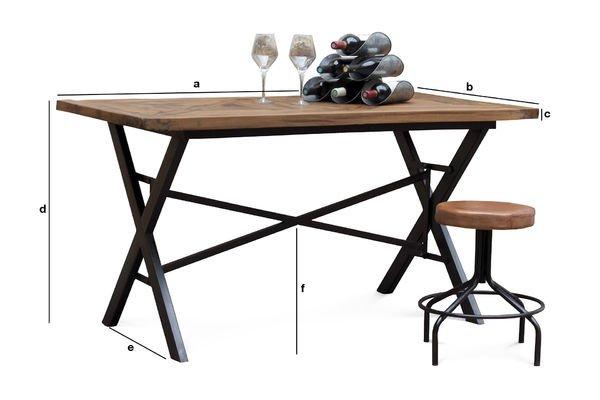 Productafmetingen Cadé tafel 180cm