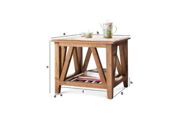 Productafmetingen Cadynam salontafel