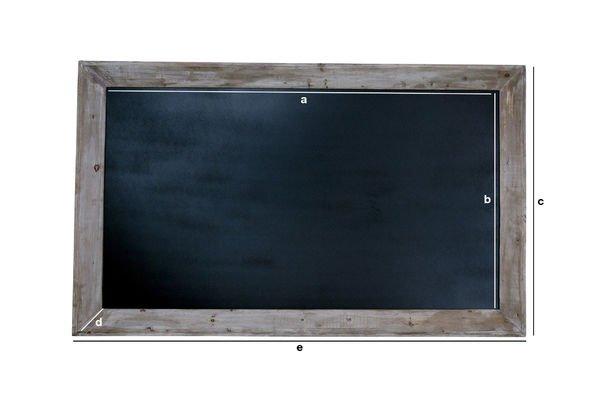 Productafmetingen Café schoolbord 115x190cm