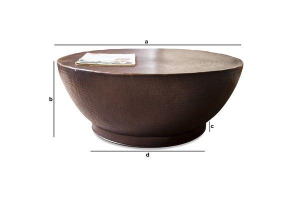 Productafmetingen Calaba salontafel