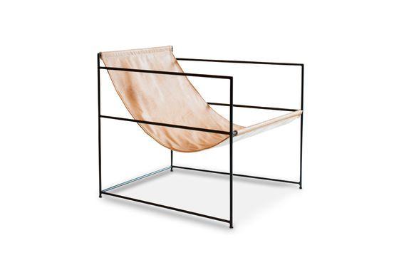 Casperünd opknoping lederen fauteuil Productfoto