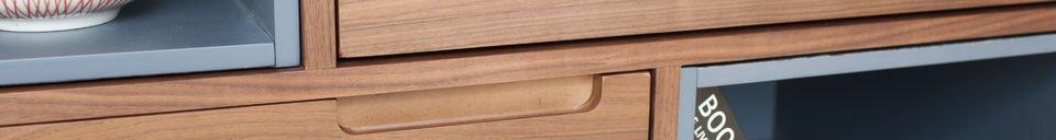 Benadrukte materialen Cassi houten kast