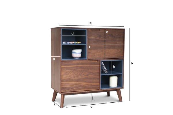 Productafmetingen Cassi houten kast