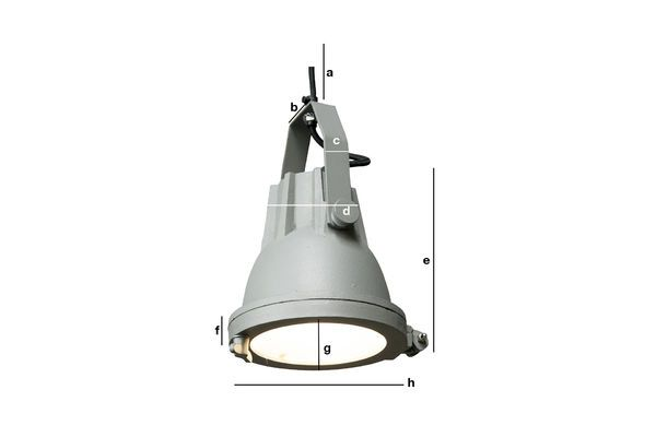 Productafmetingen Cast hanglamp Weissmuller