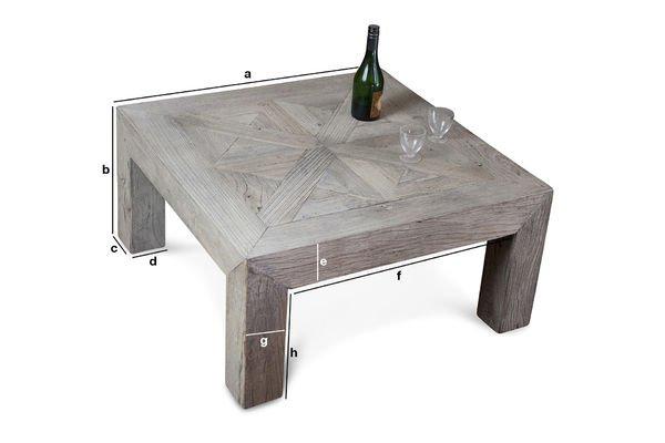 Productafmetingen Charpente salontafel